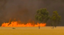 Bushfire burns out of control in South Australia