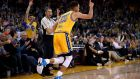 Stephen Curry inspired Golden State Warriors to victory over the LA Lakers and a record 16-0 start. Photograph: Getty