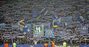Uefa have ordered Dynamo Kyiv to play their next three European home games behind closed doors. Photograph: Getty