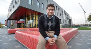 Approaching biotech differently: Milad Alucozai, a Mitchell scholar in Maynooth University, is from the US and of Afghan background. Photograph: Alan Betson
