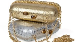 Snakeskin Pia Clutches, €125 each at Ale Walsh