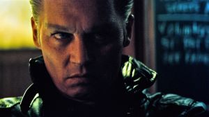 "Johnny Depp as James 'Whitey' Bulger in Black Mass, ""a very convincing Southie psychopath"""