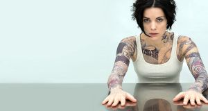 Bag lady: Jaimie Alexander as Jane Doe in new US drama series Blindspot, currently showing on Sky Living