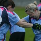 The Gaelic4Mothers team from Athlone GAA club get their training in. Photograph: Eric Molloy