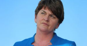 Minister for Finance Arlene Foster:  said  while   North had benefited   from  chancellor's decision to protect health and education in England, the Executive would still face difficult decisions ahead. Photograph: Niall Carson/PA Wire