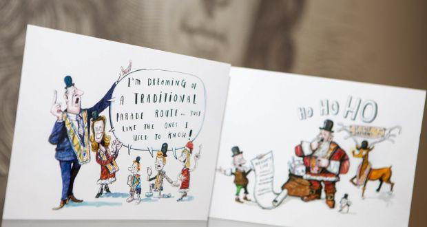 bing inspires orange order christmas card sentiment