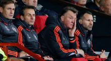 Louis van Gaal believes securing a place in the last 16 of the Champions League will be difficult after Manchester United's 0-0 draw at home with PSV. Photograph: Reuters