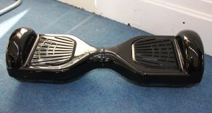 Hoverboards don't actually hover. Instead, they are made up of a small platform with wheels on each side - somewhat like a Segway minus the handle.  File photograph: Kent County Council Trading Standards/PA Wire
