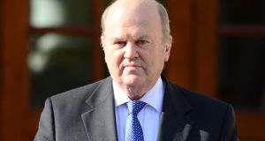 Minister for Finance Michael Noonan:  Fine Gael's manifesto must say how its spending and tax plans would be funded. Photograph: Bryan O'Brien / The Irish Times