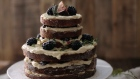 Forkful: naked cake with meringue buttercream icing