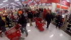 Black Friday: thousands of shoppers swarm in timelapse video
