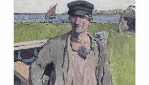 Detail from 'The Boat Builder' by Jack B Yeats
