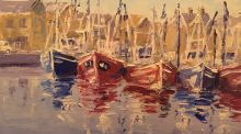 """Fishing Trawlers, Howth"" by Ivan Sutton: the painting is on sale at a house contents auction in Howth"