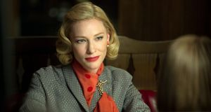 "<b>Carol &#9733; &#9733; &#9733; &#9733; &#9733;  </b> <br><i>15A cert, gen release, 118 min</i> <br><br>Todd Haynes' beautiful, tricky adaptation of The Price of Salt, Patricia Highsmith's early novel concerning a lesbian romance in 1950s New York city surges with emotion. <br><br><a href=""http://www.irishtimes.com/culture/film/carol-review-one-of-america-s-great-film-makers-has-returned-in-triumph-1.2445012"">(Read the review and see the trailer)</a>"