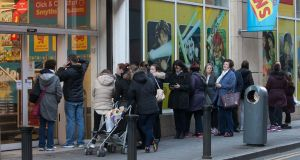 Black Friday shopping scenes outside Smyths Toystore on Jervis Street, Dublin. Photo: Gareth Chaney Collins