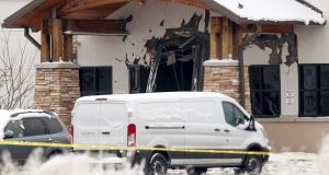The Planned Parenthood clinic in Colorado where a gunman killed three people on Friday. Photograph:  Isaiah Downing/Reuters