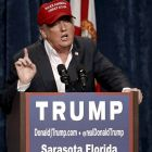 US Republican presidential candidate Donald Trump speaks at a rally in Sarasota, Florida on Saturday: with all his bombast and incivility, Trump has joyfully debunked political correctness for the complete fraud that it is. Photograph: Scott Audette/Reuters