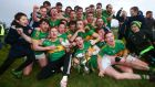 Clonmel Commercials celebrate after beating Nemo Rangers in the Munster club final. Photograph: James Crombie/Inpho