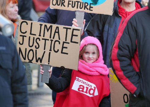 Grace Thomas attends a People's Climate Rally held in Writer's Square, Belfast and an ecumenical church service on Sunday.