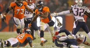 C.J. Anderson of the Denver Broncos scored in overtime to give his side a win over the New England Patriots. Photograph: Getty