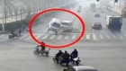 CCTV of 'levitating' car crash goes viral