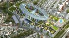 An aerial view of the site for the new National Children's Hospital at the St James's Hospital campus in Dublin.