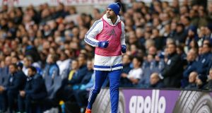 Chelsea's Diego Costa was dropped for the London derby. Photograph: Paul Childs/Reuters