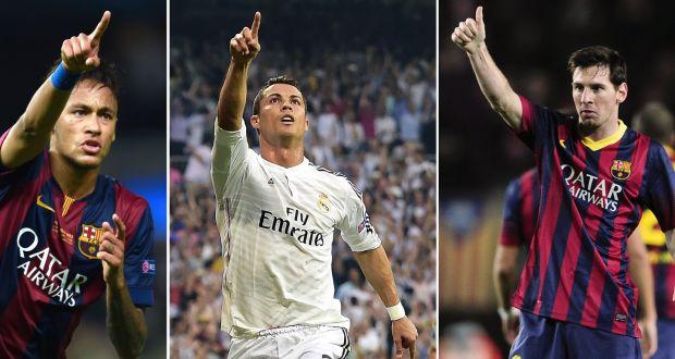 Resultado de imagen para Messi, Cristiano, Neymar