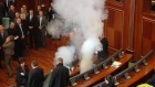 Teargas yet again let off in Kosovo parliament