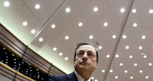European Central Bank president Mario Draghi: the ECB is expected to make an interest rate announcement. Photograph: Francois Lenoir/Reuters
