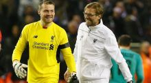 Jürgen Klopp has insister he is happy with Liverpool's number one Simon Mignolet. Photograph: Reuters