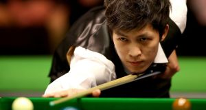 Thepchaiya Un-Nooh missed the black off its spot for a 147 against Neil Robertson at the UK Championships. Photograph: PA