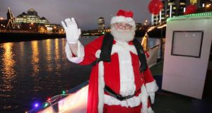 See Santa at the I Believe Christmas Tree and Village at the Custom House Quarter in Dublin