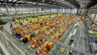 The warehouse at the Amazon fulfillment centre in Hemel Hempstead gets ready for Cyber Monday. Online sales on Black Friday were massive this year, only marginally trailing Cyber Monday at $2.7 billion in the US.
