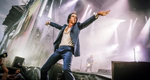 When up meets down: Chthonic rock god Nick Cave belts out some subterranean blues