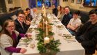 Chef Gavin McDonagh, at Brioche Restaurant, in Ranelagh, Dublin, with his family, friends and Christmas Dinner.Photograph: Dara Mac Dónaill