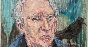Detail from a portrait of Paul Durcan (2015) by Nick Miller. Courtesy of the artist