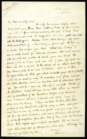 Ceannt's last letter, which he wrote the night before his execution.  All photographs courtesy of the national library of ireland