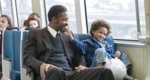 The pursuit of happyness: In the movie, Will Smith and his son struggle to find a home.