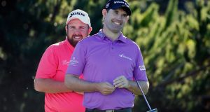 Padraig Harrington and Shane Lowry at the At&T Pebble Beach Pro-Am. Photo: Scott Halleran/Getty Images