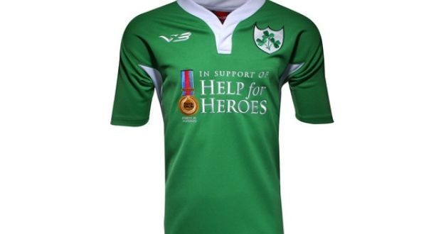 """3086f3435 Help for Heroes Ireland jersey: """"It doesn't carry any IRFU logo and"""