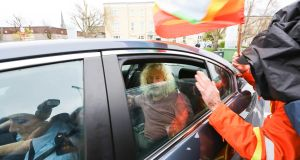 Independent TD Mick Wallace arrives at Limerick Prison on Wednesday afternoon where he was  jailed briefly for not paying a court fine. Photograph: Brian Gavin/Press 22.
