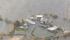 Aerial footage shows widespread flooding in the midlands
