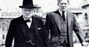 Winston Churchill with Tipperary-born Brendan Bracken, whose archive of letters is for auction at Fonsie Mealy Auctioneers