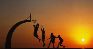 Basketball at Sunset. Photograph: Allsport Concepts / Getty Images SPORT