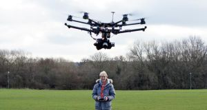Flying without a licence?: If you want to use your drone to sell images or footage you'll need an aerial-work permit from the Irish Aviation Authority. Photograph: Richard Newstead/Moment/Getty