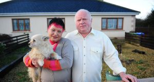 Threatened: Bernadette and Jude Harper, whose bank gave them seven days to leave their home.  Photograph: James Flynn/APX