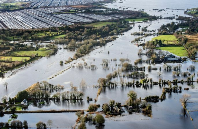 Flooding along the banks of the river Shannon near Athlone. Photograph: Brenda Fitzsimons/The Irish Times