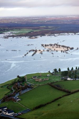 Further rain is predicted this weekend and the river's water level is set to rise. Photograph: Brenda Fitzsimons/The Irish Times