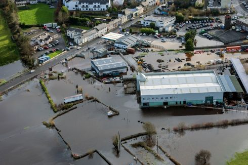 Flooding at Carrick on Shannon. Photograph: Brenda Fitzsimons/The Irish Times